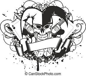 joker dasign - Vector illustration joker and revolvers