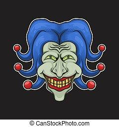 joker head vector illustration