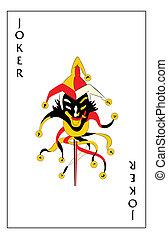 """Joker playing card - \""""Jumping jack\"""" joker playing card"""