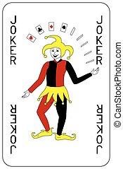 joker, poker, jeu carte