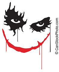 Joker smile - The face of the Joker from the Batman movie.