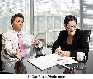 Joking business partners