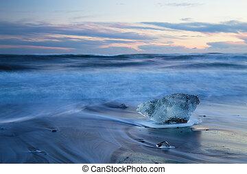 jokulsarlon, παγόβουνο , ισλανδία , παγετώδης , λιμνοθάλασσα , παραλία