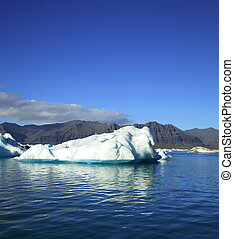 jokulsarlon, παγόβουνο , λιμνοθάλασσα