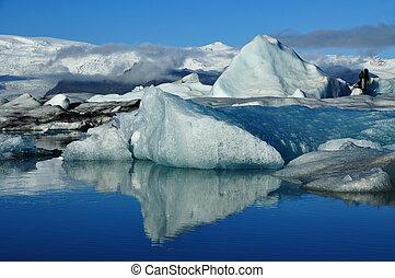 jokulsarlon, 冰山, 环礁湖, 冰岛