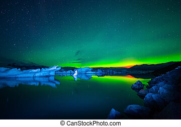 jokulsarlon, glacial, laguna, este, islandia