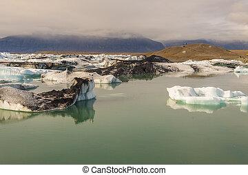 jokulsarlon, - , iceland., λιμνοθάλασσα