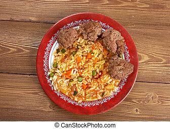 jollof, rijst