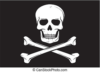 (jolly, bandera, wektor, roger), pirat