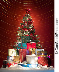 jolly colorful christmas tree
