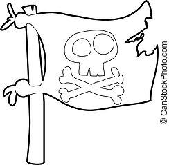 Jolly Roger icon outline