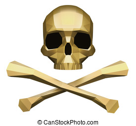 Jolly Roger Isolated On White Background