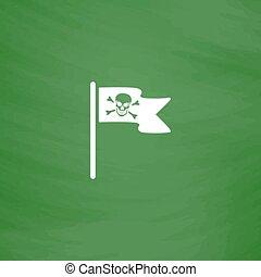 Jolly Roger or Skull and Cross bones Pirate flag