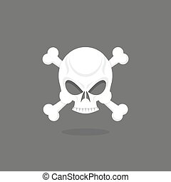 Jolly Roger. Skull and bones.