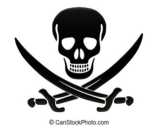 Jolly Roger skull and crossed swords