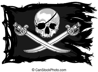 Jolly Roger, this illustration may be useful as designer...