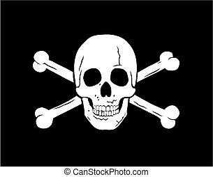 Jolly Roger - Vector illustration of piratical symbol jolly...