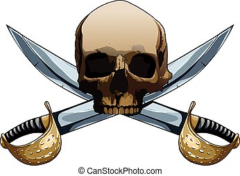 Jolly Roger with swords
