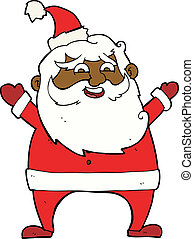 jolly santa cartoon