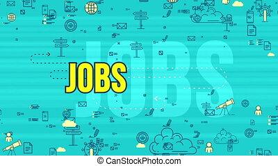"""Jolly yellow job design symbol moving"" - ""Cheerful 3d..."