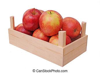 Jonagold apples in crate