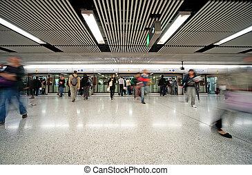 jonc, métro, heure