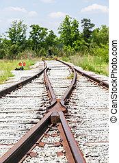 jonction chemin fer, abandonnés