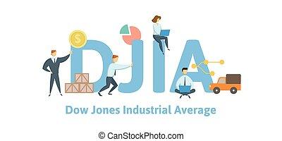 jones, average., concetto, lettere, illustration., ...
