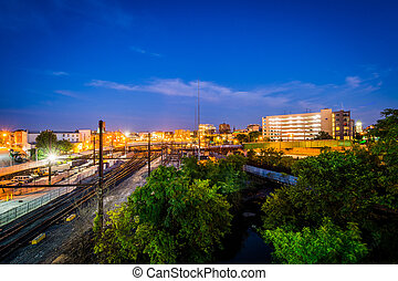 jones, baltimore, yard, howard, rail, chutes, maryland.,...