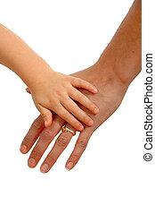 jong en oud, handen