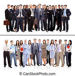 jonge, aantrekkelijk, zakenlui, -, de, elite, handel team