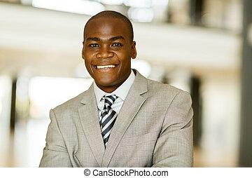 jonge, afrikaan, collectief, arbeider