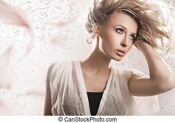 jonge, blonde , beauty