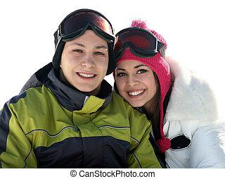 jonge, gelukkig paar