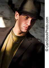 jonge man, grunge, stijl