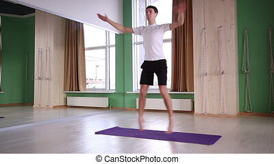 jonge, mannelijke , doen, yoga
