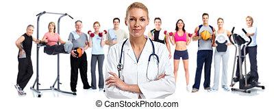 jonge, medische arts, woman.