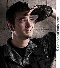 jonge, soldaat