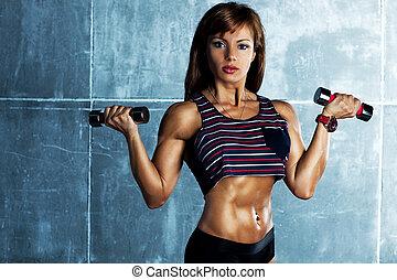 jonge, sporten vrouw