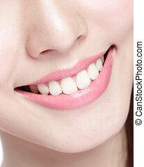 jonge vrouw , gezondheid, teeth