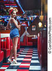 jonge, waitress