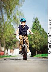 jongen, biking