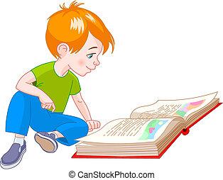 jongen, boek