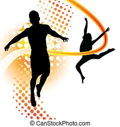 jongen en meisje, dancing