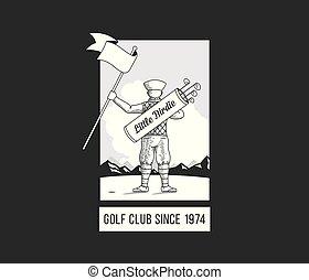 jongen, golf