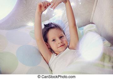 jongen, in bed