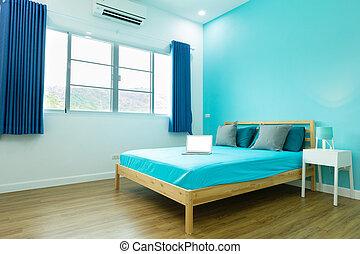 Blauwe jongen kamer accessoires helder slaapkamer witte