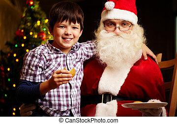 jongen, kerstman