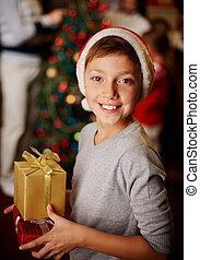 jongen, kerstmis