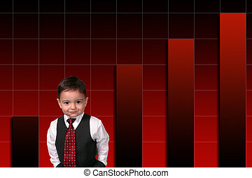 jongen kind, zakelijk